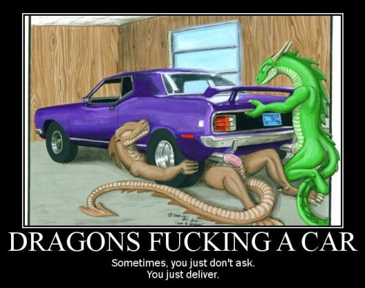 dragons fucking car