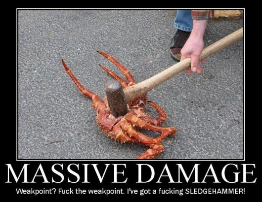 massive damage