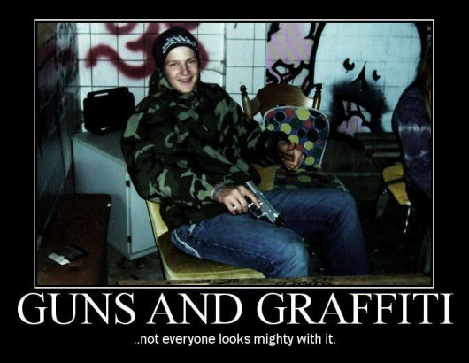 guns and graffiti