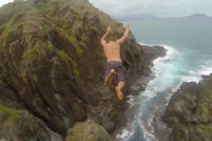 Cliff Jumping auf Hawaii