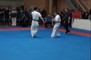 Netter Knockout beim Karate