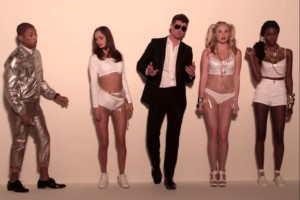 Jimmy Kimmel crashed Blurred Lines