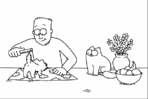 Simon's Cat - Pawtrait