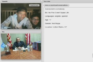 Barack Obama bei Chatroulette