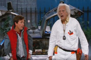 Marty McFly & Doc Brown besuchen Jimmy Kimmel