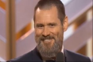 Jim Carrey bei den Golden Globes