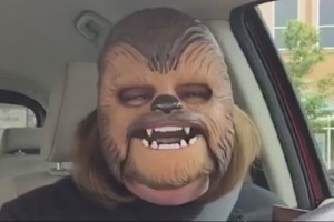 Happy Chewbacca Mask Lady - Autotuned