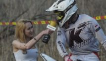 Kurzes Interview beim Motocross