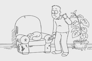Simon's Cat - Armchair Fan