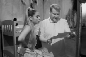 James Corden & Ariana Grande beim Escape Room