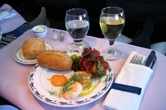 American Airlines Continental Airlines Business First Class Hamburg route - New York.jpg