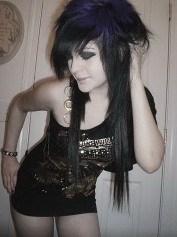 Sweet young emo girls — pic 15